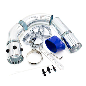 "Universal 3"" 76mm Car Air Intake Pipe Aluminum Alloy Intake Pipe Kits Turbo Direct Cold Air Filter Injection System"